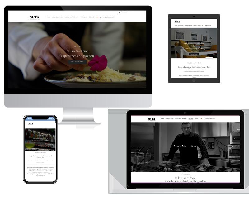 vettoriali schermi computer e smartphone responsive sito web